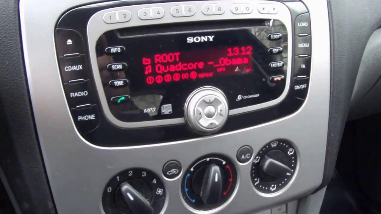 2008 ford sony 6cd car radio [ 1280 x 720 Pixel ]
