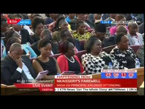 General Nkaissery's son pays tribute to his father