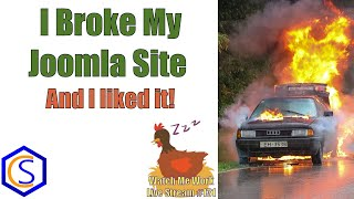 I Broke My Joomla Site Updating from Joomla 3 to Joomla 4! - 👀 Watch Me Work 131