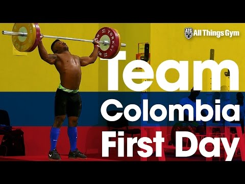 🇨🇴 Team Colombia's 🇨🇴 First Training Day 2016 Junior World Weightlifting Championships