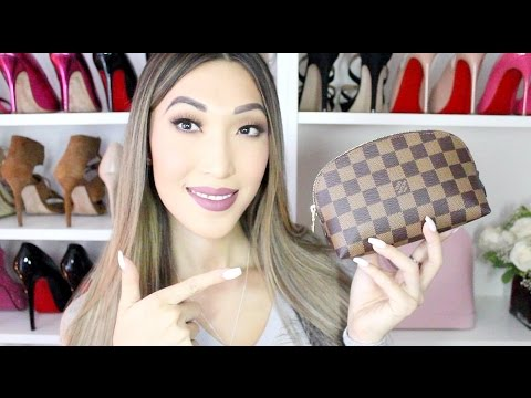 c21722485fed What s In My Makeup Bag  (LV Cosmetic Pouch Pm) - YouTube