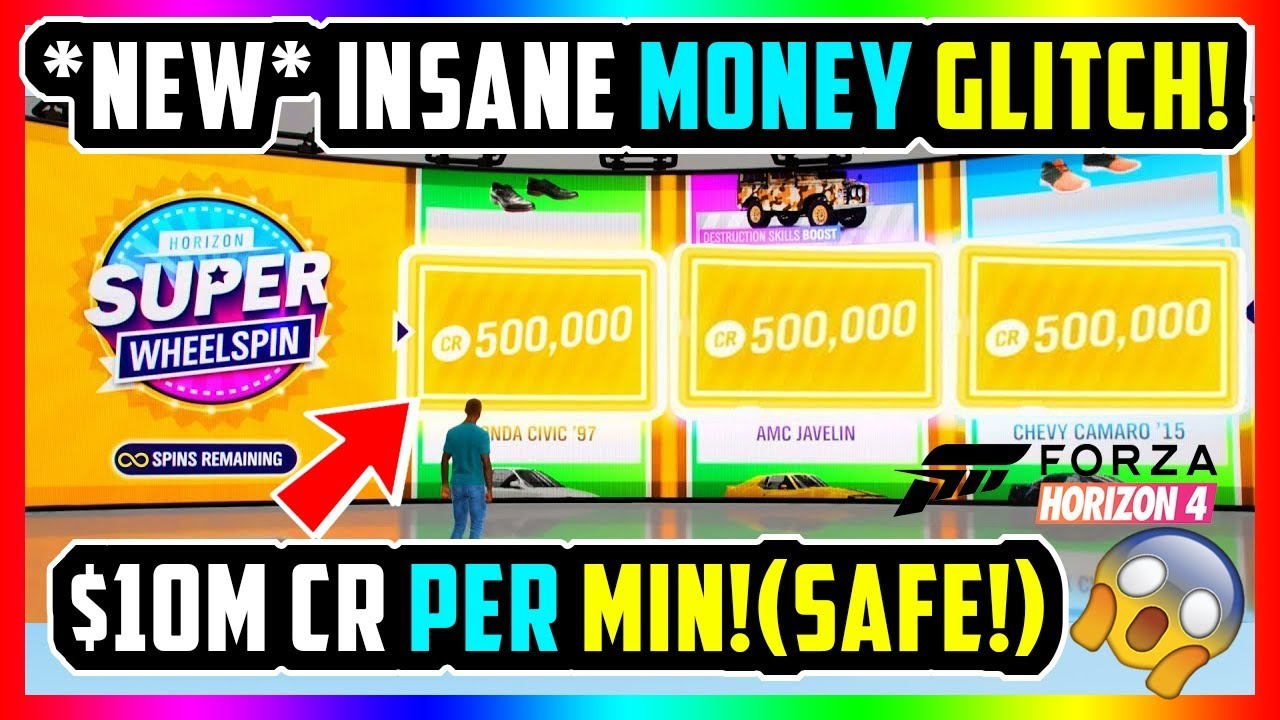 FORZA HORIZON 4: BEST *NEW* MONEY GLITCH 10M CR/MIN | UNLIMITED CREDITS  (SAFE!)