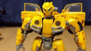 Transformers Bumblebee Scans Old Camaro Stop Motion Test
