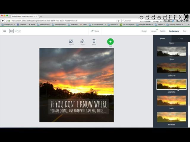 AdobeSpark Post tutorial