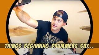 things beginner drummers say thumbnail