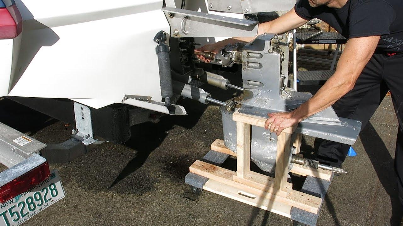 medium resolution of removing a stuck volvo penta sx dp s sterndrive