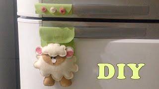 Como Fazer Protetor Puxador de Geladeira de Ovelhinha