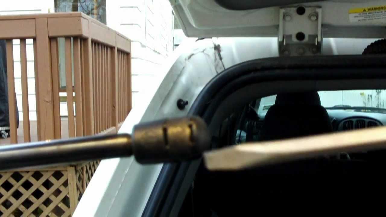 dodge caravan stuck liftgate or hard to open DIY fix  YouTube