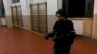 Testing new cane and body protection for Canne italiana (Italian Walking stick fencing)