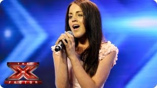 Melanie McCabe sings Titanium by David Guetta feat Sia - Arena Auditions Week 2 -- The X Factor 2013