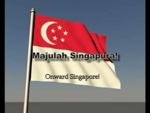 Singapore S National Anthem With Flag