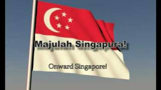 Singapore's National Anthem with Flag