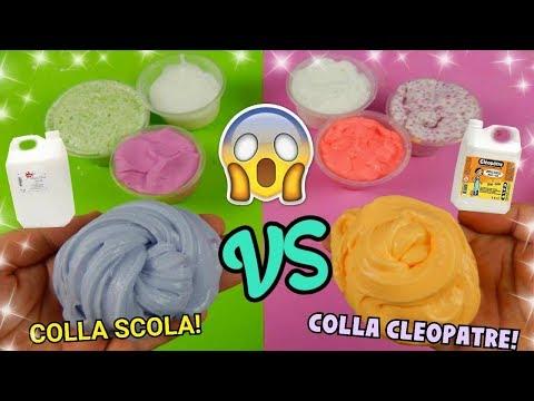 SLIME COLLA CLEOPATRE CONTRO SLIME COLLA SCOLA! QUAL E' MEGLIO Iolanda Sweets