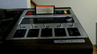 Teddy Bear by Red Sovine on an 8-track, no high tech here!