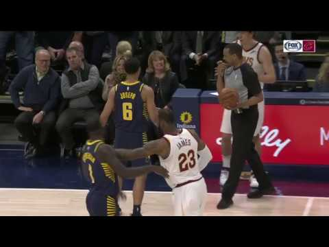 LeBron James and Lance Stephenson Fight | 1-12-2018
