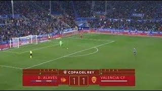 TANDA DE PENALTIS COMPLETA | ALAVÉS VS VALENCIA| COPA DEL REY 2018 CUARTOS