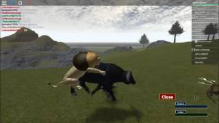 Survival pre alpha (ROBLOX) Im ol bessie the bull :P