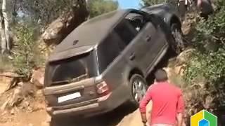 Range Rover по бездорожью