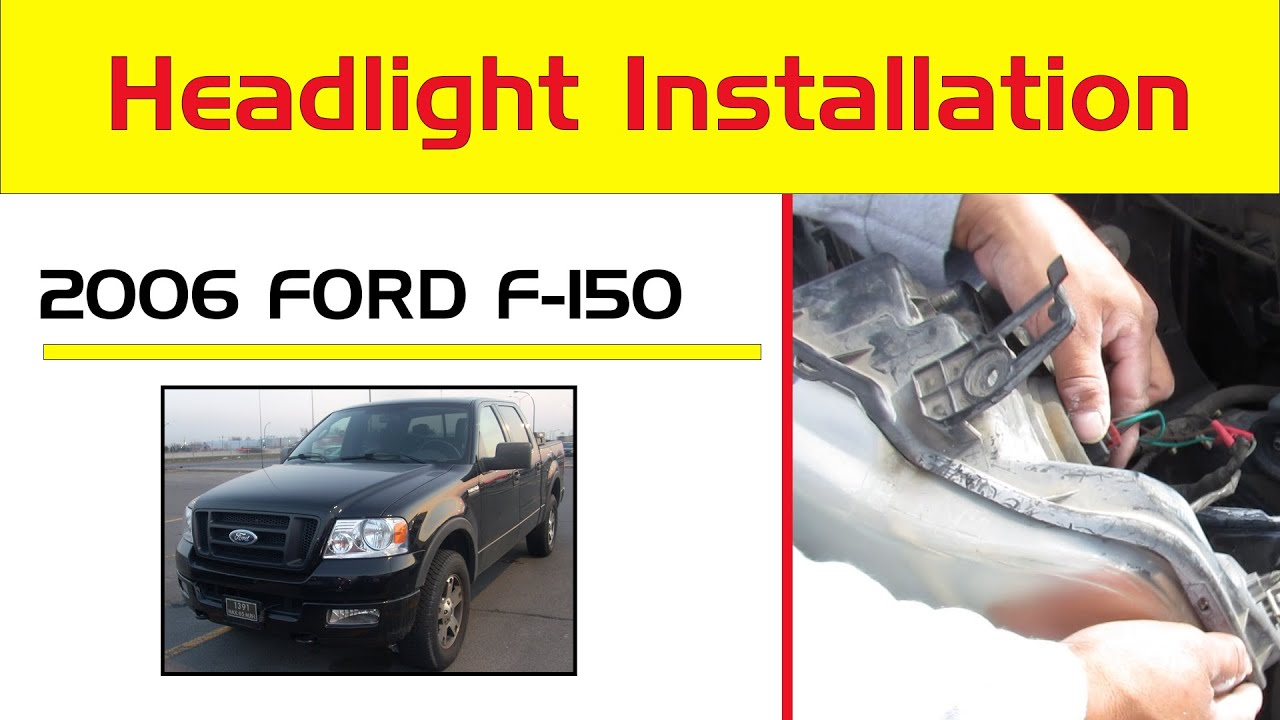 Replace Remove Change 2004 14 Ford F150 Headlights H13 Led Upgrade Youtube