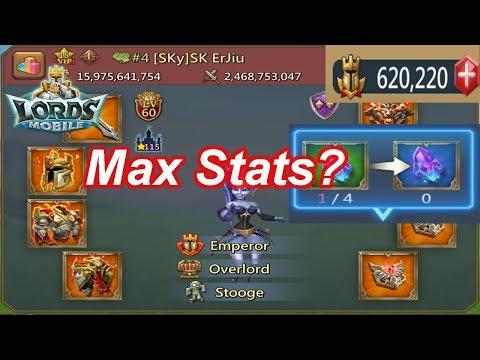 Sk ErJiu Max Stats? (Alpha Theory 101) - 王國紀元 Lords Mobile