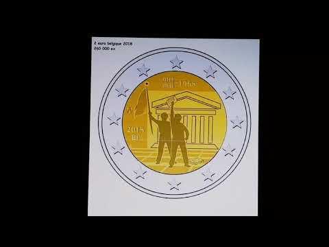 SCOOP : 2 € euro belgique 2018 50e anniversaire de la révolte étudiante de Mai 1968