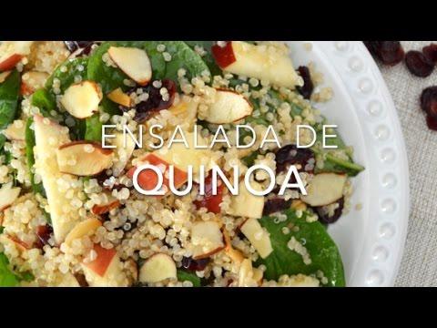 Ensalada de quinoa quinua con espinaca recetas f ciles for Cocinar quinoa con pollo