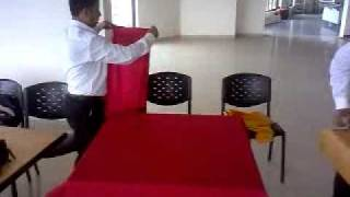 Laying And Relaying Of Table Cloth In A Restaurant...!!!