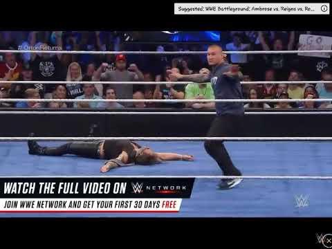 Randy Orton RKO on Chris Jericho - Battleground 2016 - July 24, 2016
