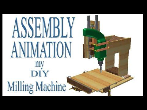Assembly Animation my DIY Milling Machine using autodesk inventor (Animasi perakitan mesin milling)