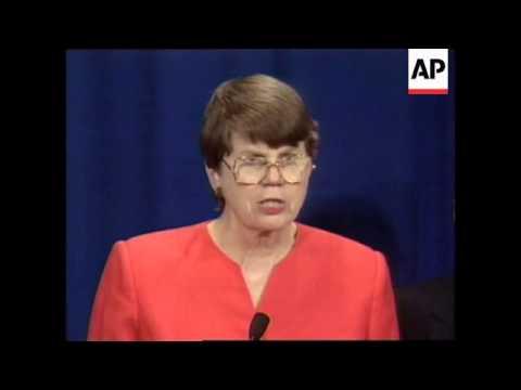 USA: OKLAHOMA CITY BOMBING: JANET RENO NEWS CONFERENCE