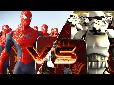 Spiderman Avenger VS Stormtrooper - Marvel VS Starwars - Massive Superheroes Battle