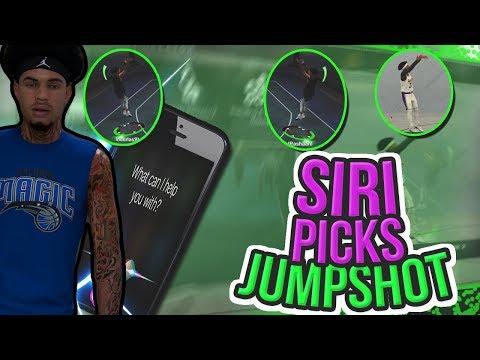 NBA 2K19 GAMEPLAY SIRI PICKS THE BEST JUMPSHOT CHALLENGE WAIT UNTIL THE END 😏🙏