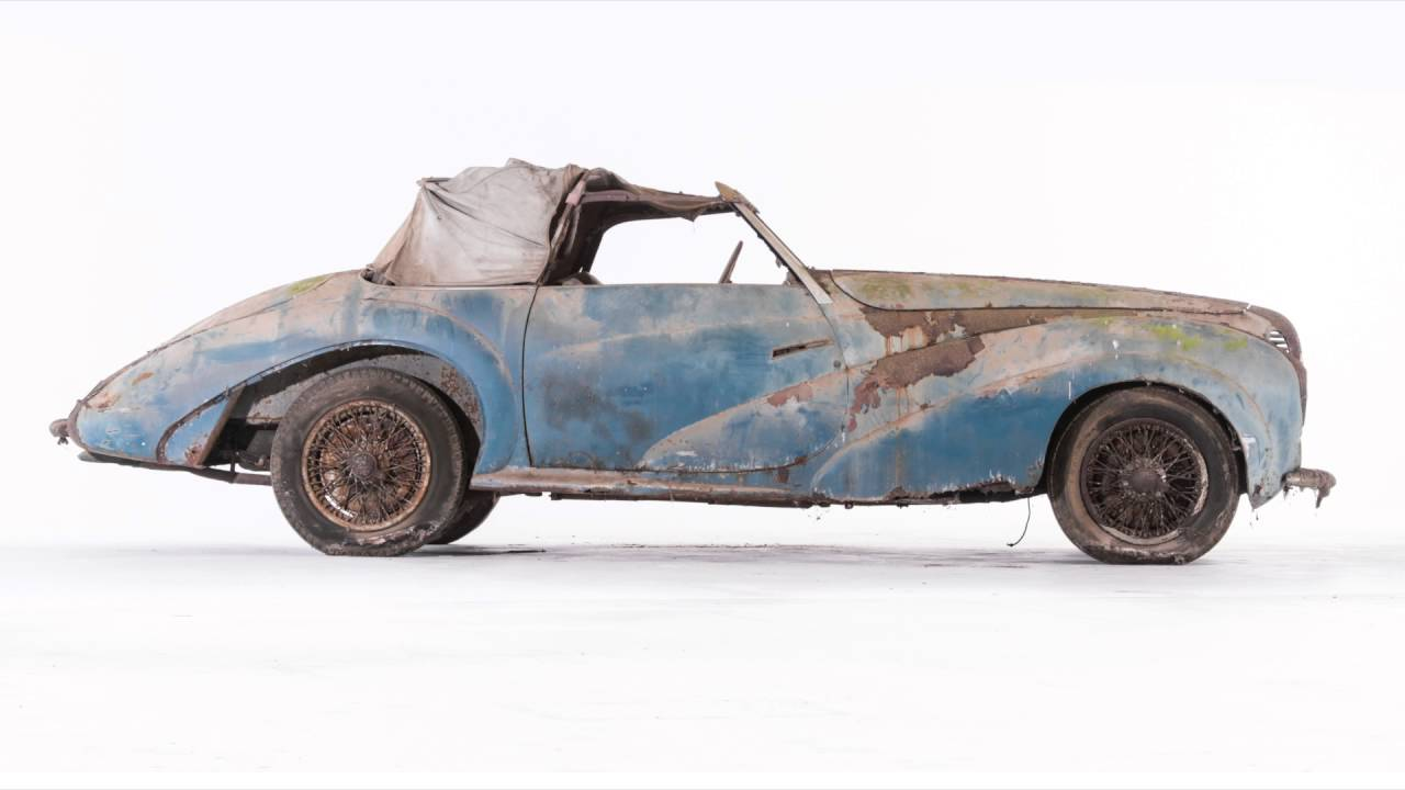 Classic Car Barn Find of The Century French 1948 Delahaye 135 M ...
