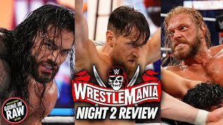 Wrestlemania 37 Night 2 Full Show Results & Review   Going In Raw Pro Wrestling Podcast