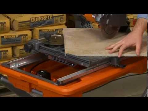 ridgid tile saw for pros the home depot