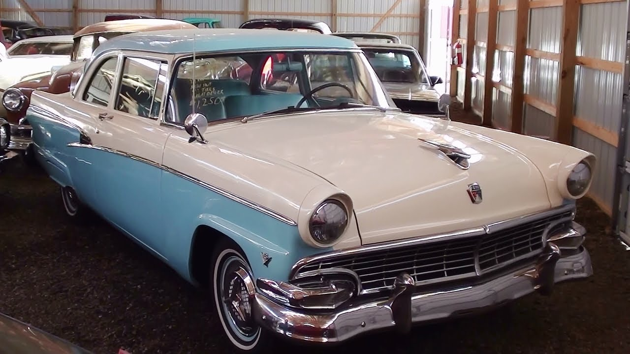 1956 ford customline 272 v8 youtube for 1956 ford customline 2 door hardtop
