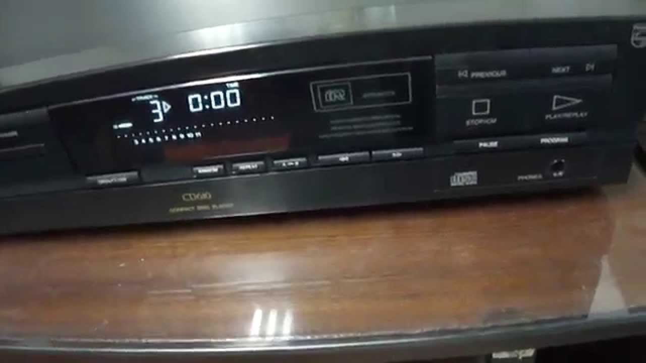 o rei do som cd player philips twin dac cd 610 youtube. Black Bedroom Furniture Sets. Home Design Ideas