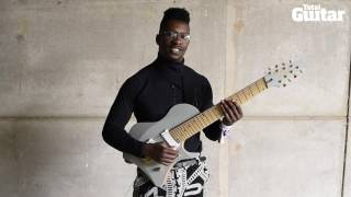 me and my guitar tosin abasi of animals as leaders ibanez signature model prototype guitar
