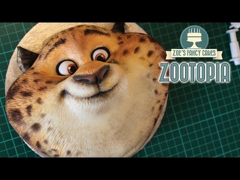 Zootopia cake officer clawhauser zootropolis