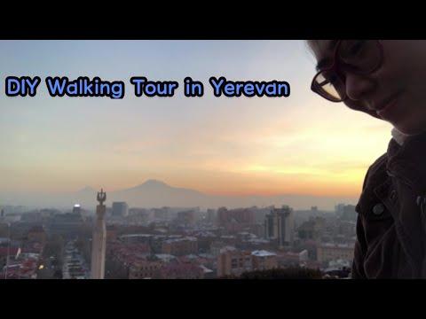 DIY Walking Tour In Yerevan/ Cascade/ North Ave/ Blue Mosque/ Yerevan, Armenia