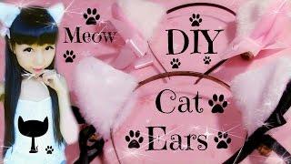 DIY Cat Ears   Fluffy Ears (Easy)   Halloween DIY