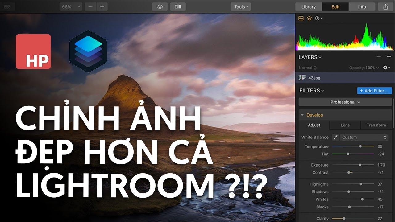 Phần mềm chỉnh ảnh cực dễ trên máy tính cho dân chuyên nghiệp – Luminar 3 | #HPphotoshop