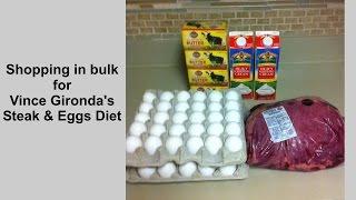 Vince Gironda's Steak and Eggs Diet -- Shopping in bulk