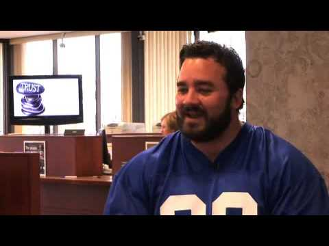 Jeff Saturday Plays Bank Teller for a Day