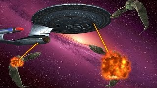 U.S.S. ENTERPRISE-D V.S. THE KLINGONS - Star Trek Bridge Commander: Kobayashi Maru Mod Battles!