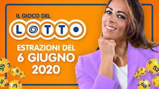 Estrazione in diretta del Gioco del Lotto e del Simbolotto di sabato 6 Giugno 2020