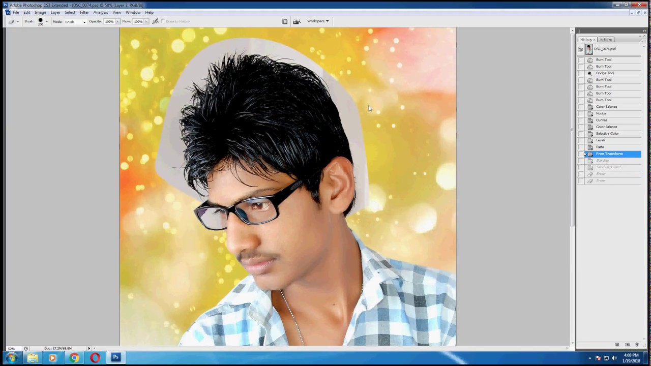 Photoshop Cs10 Orignal Hair Cutting  Modeling Photos - YouTube