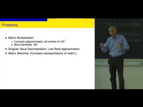 Randomized Algorithms in Linear Algebra