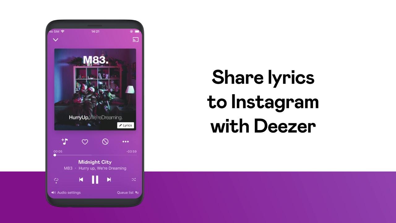 Playing and sharing lyrics on Deezer – Deezer Support