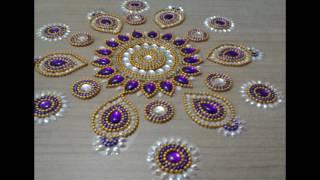 Beautiful kundan rangoli design. if you like the design then click on like and subscribe..
